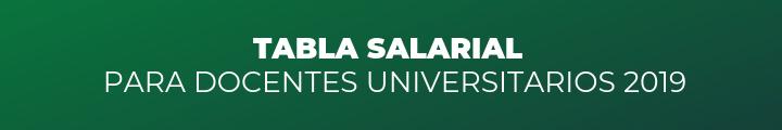 Tabla Salarial Grilla docentes universitarios universidad
