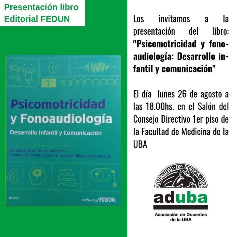 """Presentación del libro: """"Psicomotricidad y fonoaudilogía: Desarrollo infantil y comunicación"""""""
