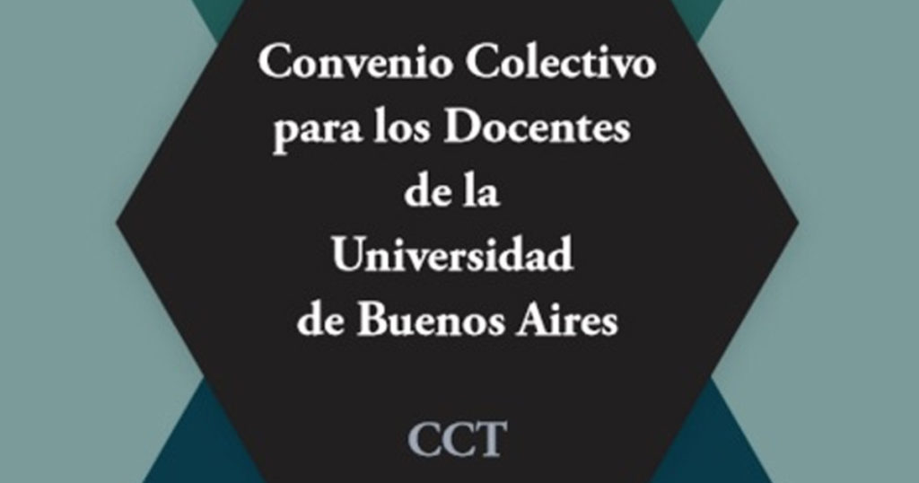 Convenio Colectivo para los Docentes de la Universidad de Buenos Aires, UBA Argentina CCT