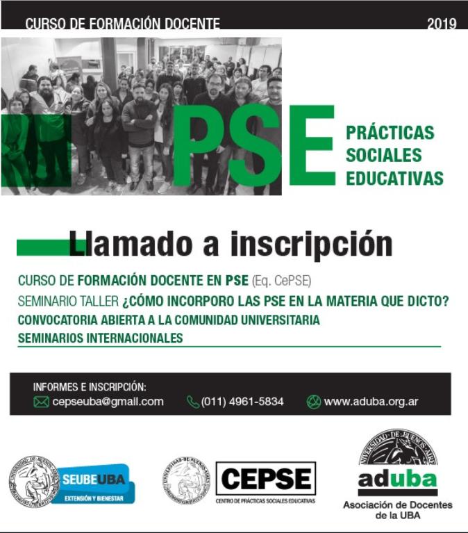 Curso de Formación Docente en Prácticas Sociales Educativas