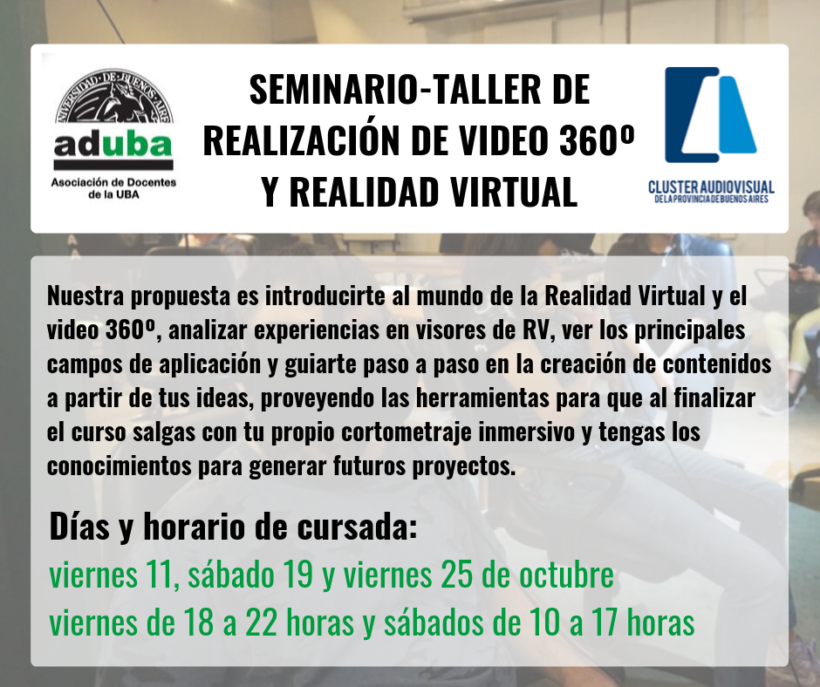 Curso de realización de video 360º y Realidad Virtual
