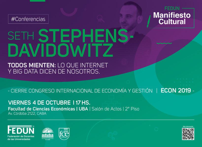Seth Stephens-Davidowitz cierra el Congreso Internacional de Economía y Gestión en la Facultad de Ciencias Económicas