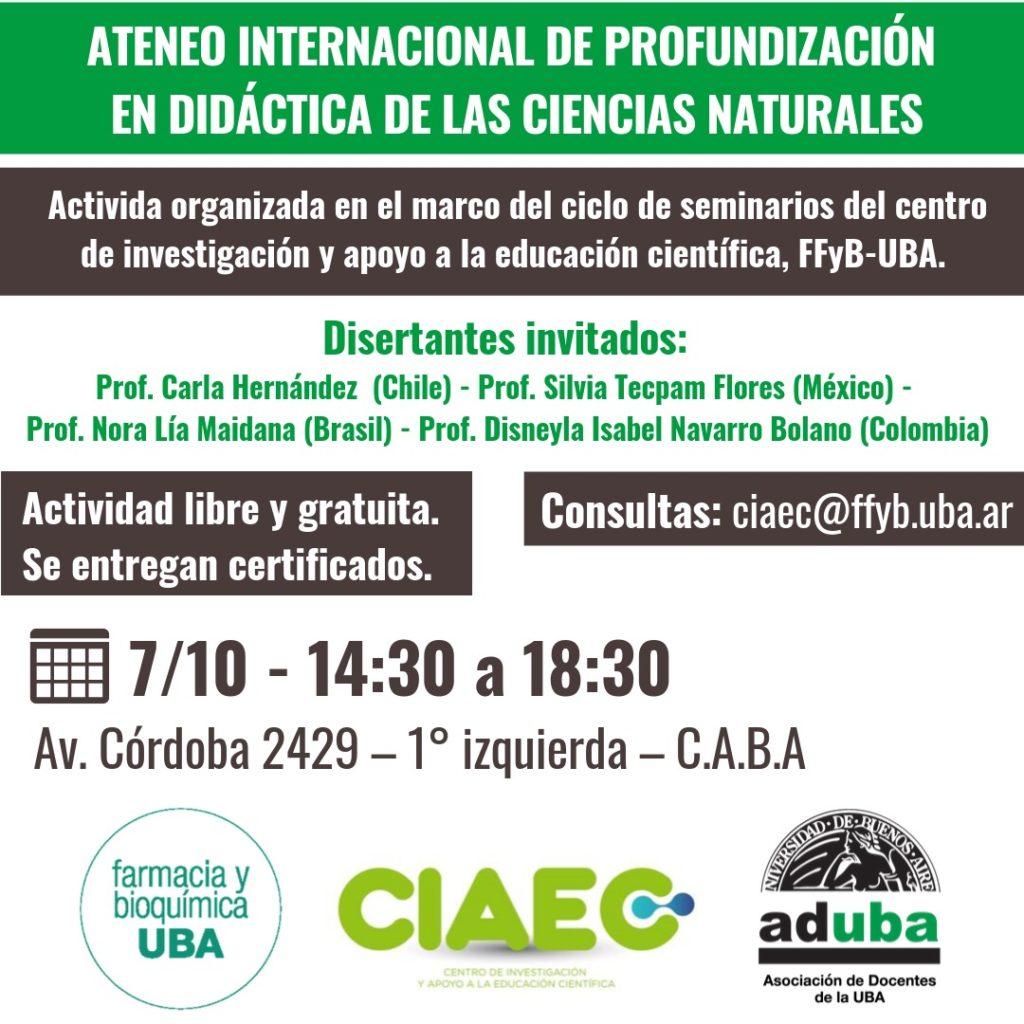 Ateneo Internacional de Profundización en Didactica de las Ciencias Naturales