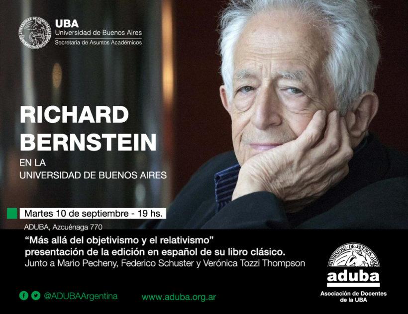 Richard Bernstein en la Universidad de Buenos Aires