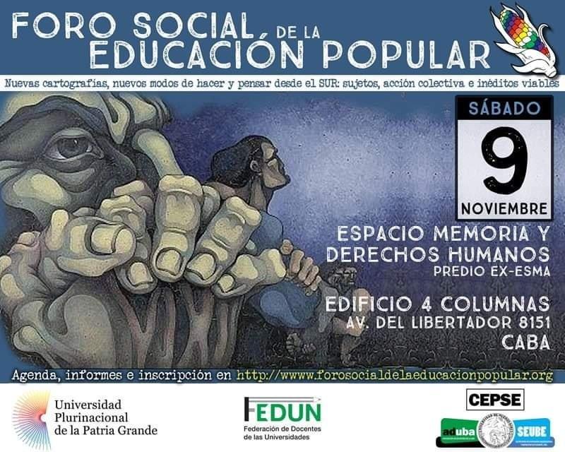 FORO SOCIAL de la EDUCACIÓN POPULAR