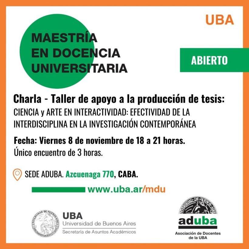 Charla-Taller de apoyo a la producción de tesis: Tendencias en investigación educativa