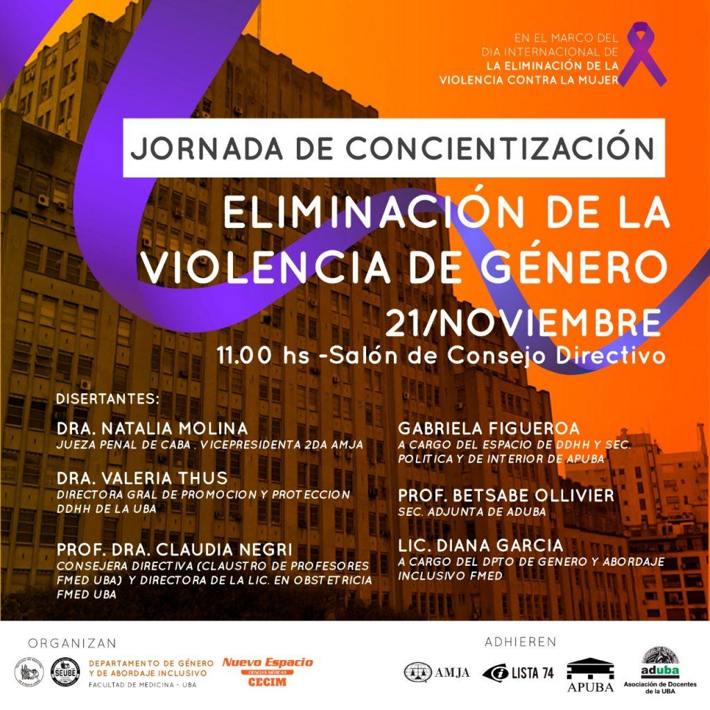 Jornada de Concientización: Eliminación de la Violencia de Género