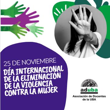 25/11: Día Internacional de la Eliminación de la Violencia contra las Mujeres