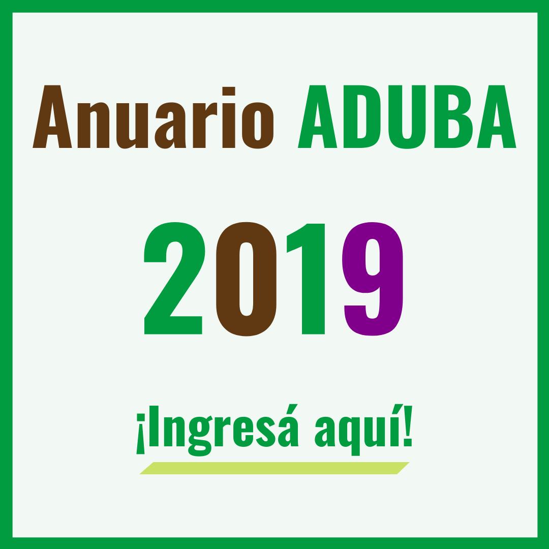 Anuario ADUBA 2019