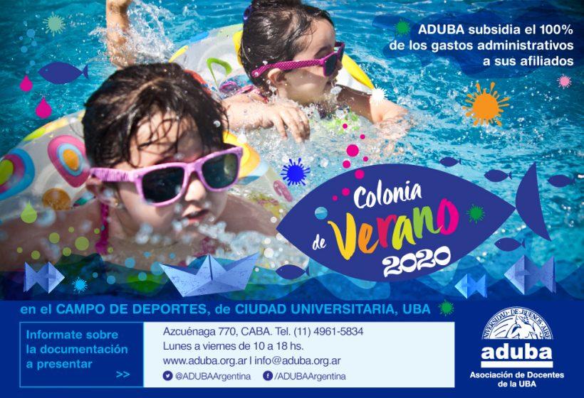 Comienza la colonia de verano de la UBA 2020