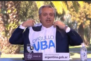 Junto al Presidente Alberto Fernández, la UBA celebró su 199° aniversario