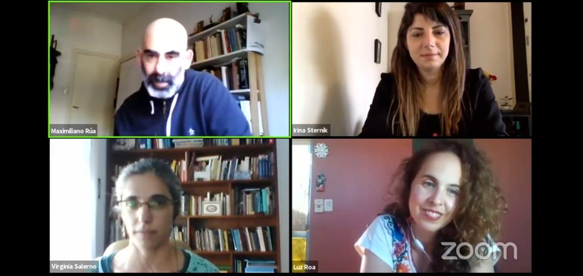 Irina Sternik, Virginia Salerno y Luz Roa disertaron sobre las prácticas del conocimiento