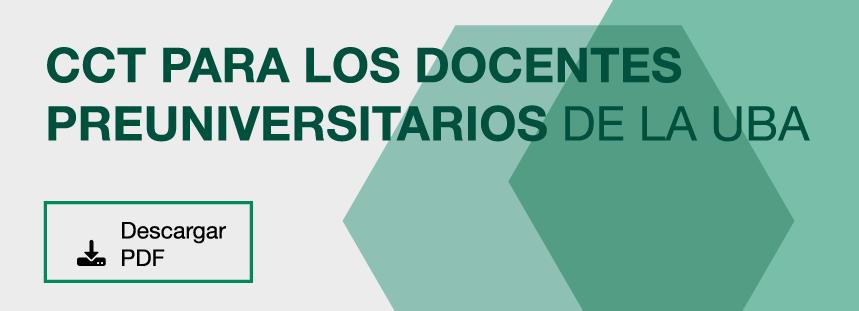 Convenio Colectivo para los Docentes de la UBA