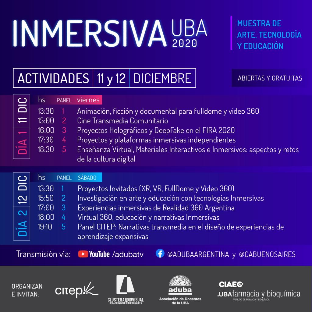 Inmersiva UBA 2020: muestra de Arte, Tecnología y Educación