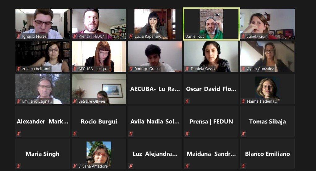 """ADUBA participó del a jornada """"Salud, ciencia y educación"""", organizada por AECUBA"""