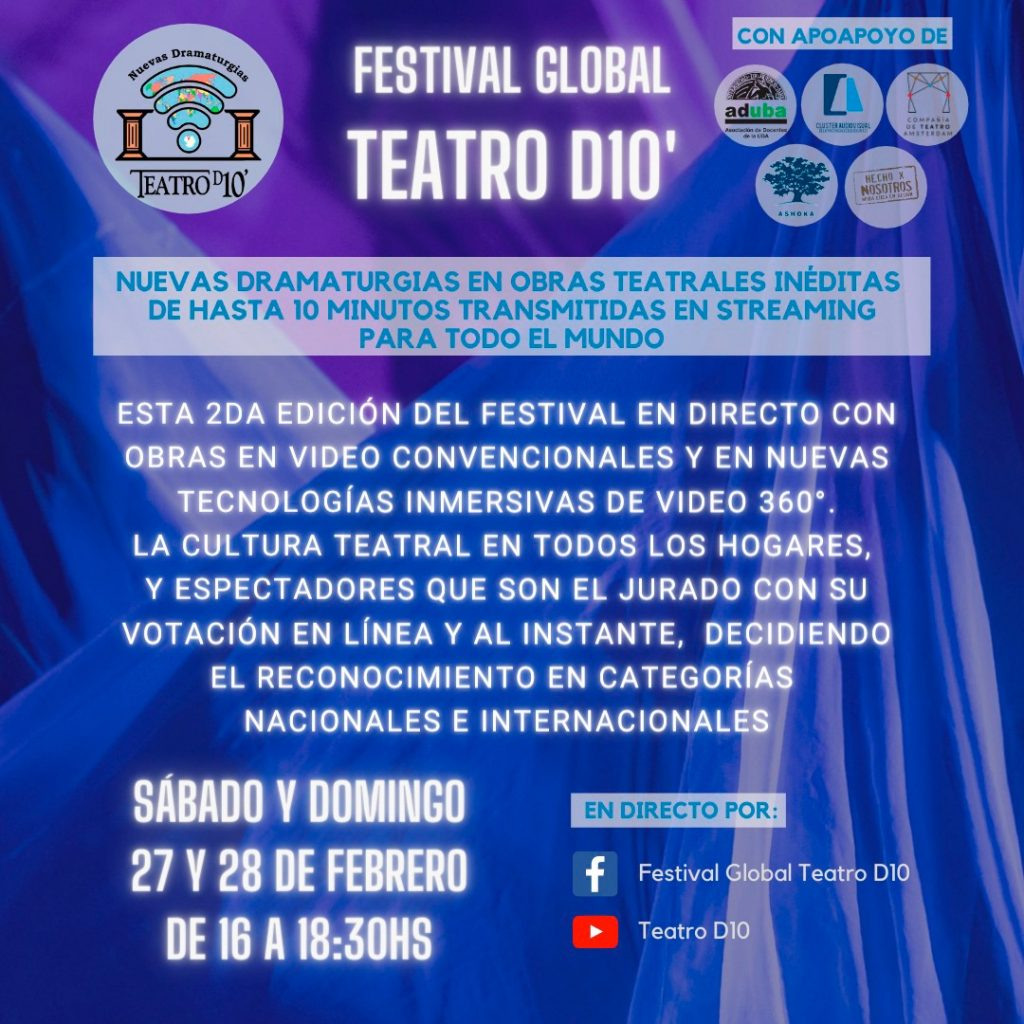 Festival Internacional de Nuevas Dramaturgias Teatro D10'