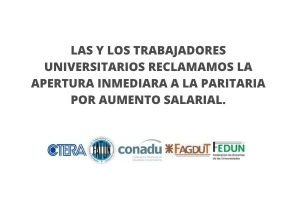 La FEDUN rechazó por insuficiente la propuesta salarial del Ministerio de Educación