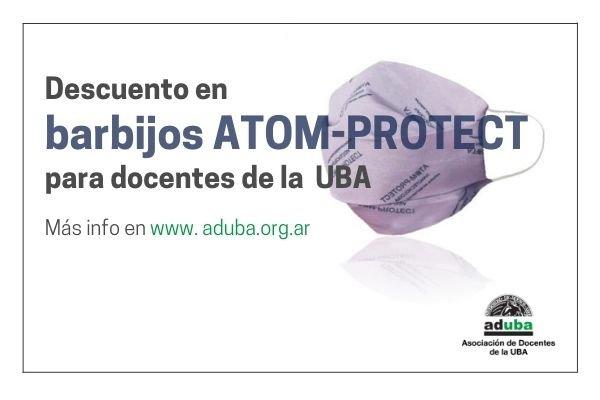 Acceso a descuentos en barbijos ATOM-PROTECT para trabajadores de la UBA