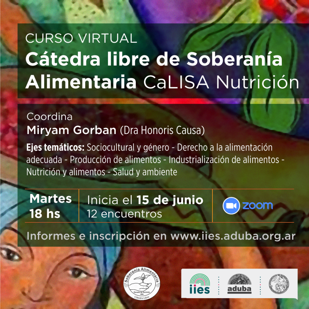 Curso virtual: Cátedra Libre de Soberanía Alimentaria CaLISA Nutrición