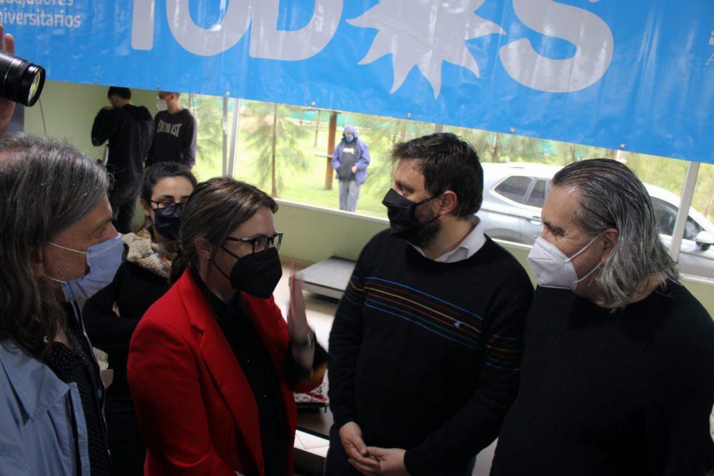 Santoro y Marziotta se reunieron con la comunidad universitaria de la UBA