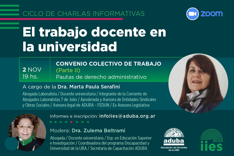 Segunda charla informativa sobre Convenio colectivo de trabajo
